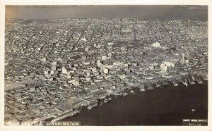 LPS31 Seattle Washington Aerial View Postcard RPPC