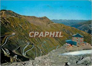 Modern Postcard Passo Stelvio Stilfserjoch Rifugio Tibet Hut 2800 m
