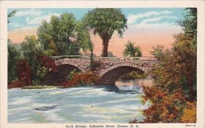 Arch Bridge Ashuelot River Keene New Hampshire 1955