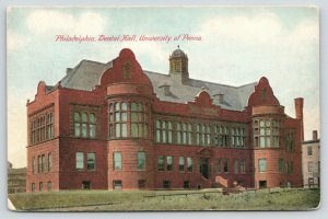 Philadelphia Pennsylvania~University of Pennsylvania~Dental Hall~c1910 Postcard