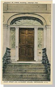 Portsmouth, New Hampshire/NH Postcard, Doorway Of Pierce