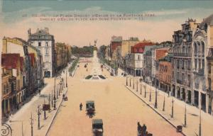 REIMS, Marne, France, 1900-1910´s; Drouet D'Erlon Place And Sube Fountain