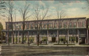 Stroudsburg PA Indian Queen Hotel c1910 Postcard