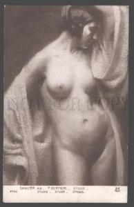 105762 Art Nouveau NUDE Female BELLE by BERTIERI vintage SALON