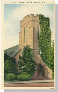 Brevard, No Carolina/NC Postcard,Episcopal Church, Nr Mint!