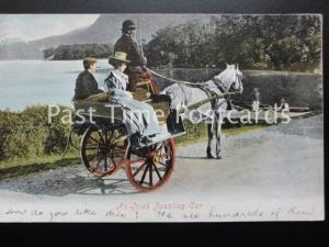 An Irish JAUNTING CAR c1903 by Valentine 531