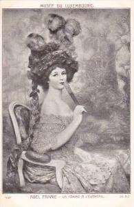 Abel Faivre La Femme A L'Eventail Musee Du Luxembourg