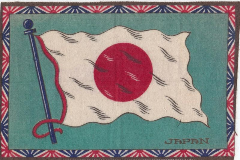 Tobacco Silk Flag , 1900-10s ; JAPAN #1