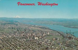 VANCOUVER, Washington, 1940-60s; Columbia River, Bridge, Mt. Hood in background