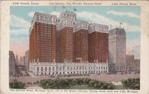 Illinois Chicago The Stevens Hotel Michigan Boulevard 7th To 8th Street 1933