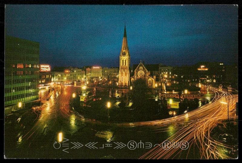 Christchurch - The Square at Night