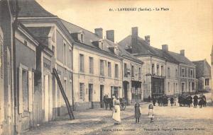 Lavernat France (Sarthe) - La Plce Postcard