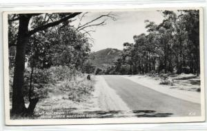 australia, Mt. MACEDON, Upper Macedon Road (1950s) RPPC