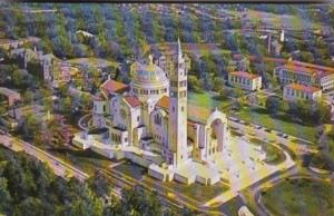 Washington DC Aerial View Of National Shrine Of The Immaculate Conception 1962