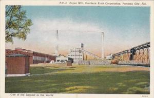 Florida Panama City Paper Mill Southern Kraft Corporation Curteich