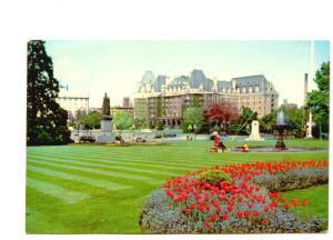 Empress Hotel,  Tulips, Victoria British Columbia.