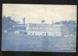 DUNDEE OHIO SILICA SAND MILLS FACTORY ANTIQUE VINTAGE POSTCARD BATH FININGER