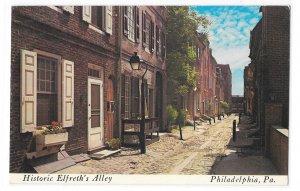 Philadelphia PA Historic Elfreth's Alley Early City Street Vntg WYCO Postcard