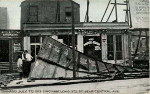 OH - Cincinnati. July 7, 1915 Tornado. 5th St. near Central Avenue