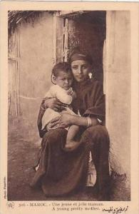 Morocco Maroc A Young Pretty Mother 1920s-30s
