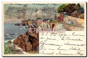 Old Postcard Italy Italia Nervi