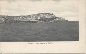 Vista Desde La Bahia, Tangier, Spanish Morocco, Early Postcard, Unused
