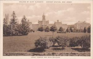 College Of Saint Elizabeth Front Campus And Main Building Convent Station New...