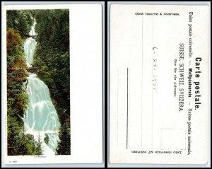 SWITZERLAND Postcard - Giessbach, Waterfall FF