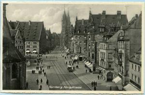 Germany - Nurnberg, Konig Street Scene   *RPPC