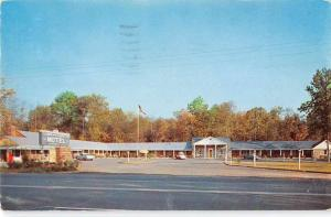 Falmouth Virginia birds eye view Town and Country Motel vintage pc Y15673