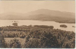 RPPC Moosehead Lake from Blairs Hill - Greenville, Maine - pm 1936 at Kokadjo