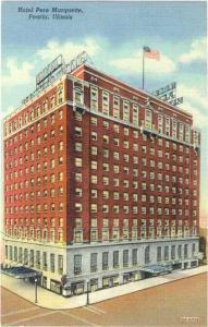 Linen of Hotel Pere Marquette in Peoria Illinois IL