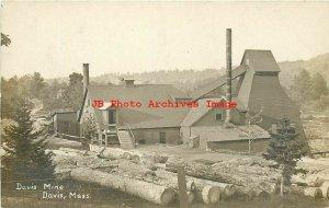 MA, Davis-Rowe, Massachusetts, RPPC, Iron Pyrite Mine, Mining Scene, 1908, Photo