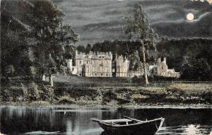 Scotland Abbotsford House, near Melrose, boat, night, moonlight 1907