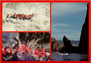 Fraser Canyon BC British Columbia Rafting Unused Multiview Postcard D36