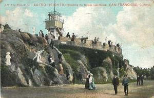 The Parapet at Sutro Heights San Francisco CA 1903? Divided