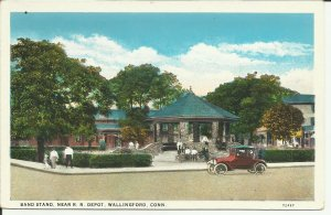 Wallingford, Conn., Band Stand Near R.R. Depot
