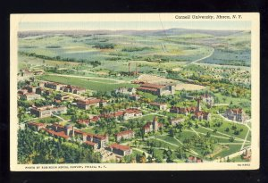 Ithaca, New York/NY Postcard, Aerial View Of Cornell University, 1945!