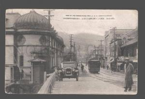 081464 JAPAN View of the Famous Place Moji CAR Vintage PC