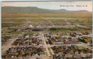 RATON, New Mexico NM   Handcolored BIRDSEYE VIEW Albertype Postcard