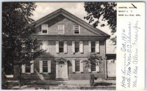 NEW CASTLE, Delaware DE   AMSTEL HOUSE  Albertype  1936  Postcard