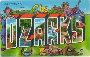 Greetings from The Ozarks Arkansas & Missouri