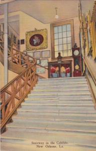 Louisiana New Orleans Stairway In The Cabildo Curteich