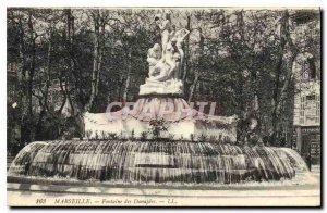 Postcard Old Marseille Fountain Danaides