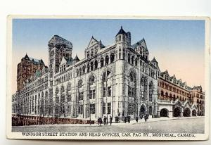 Windsor Station, Head Offices, Canadian Pacific Railway, Montreal Quebec, Int...