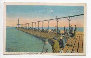 When the Perch are Biting at Michigan City,  Indiana,PU-1924
