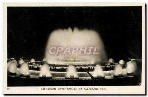 Postcard Old Exposicin Internacional de Barcelona 1929 Monumental fountain