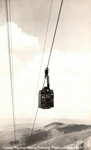 Franconia Notch, NH, Cannon Mt. Aerial Tram, RPPC, EKC Stamp box, Postcard g8501