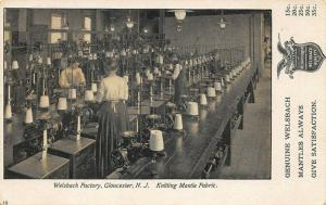 Gloucester NJ Welsbach Factory Knitting Mantle Fabric Postcard