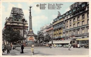 BRUSSELS BRUXELLES BELGIUM PLACE  de BROUCKERE~BROUCKERE'S PLACE  POSTCARD
